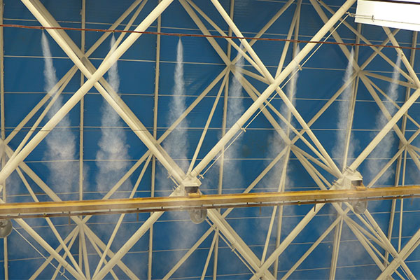 飞机维修间安装工业加湿器